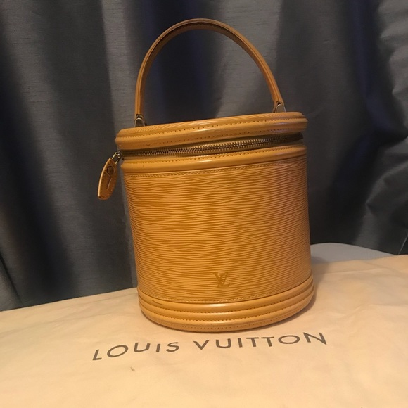 42ed568ebe9a Louis Vuitton Handbags - LV Epi leather yellow hand bag cosmetic Cannes